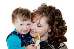 Madre amorosa felice con il suo bambino Immagine Stock Libera da Diritti