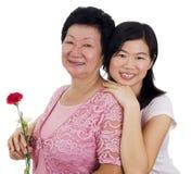 Madre & figlia Fotografia Stock