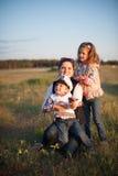 Madre, bambino, ragazzo, ragazza, fratello, sorella, amore, gioia, famiglia, donna Fotografia Stock Libera da Diritti