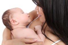 Madre che tiene giovane figlio fotografie stock libere da diritti
