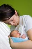 Madre con appena nato fotografia stock