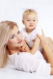 Madre con el bebé Fotos de archivo