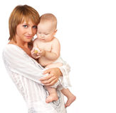 Madre con el bebé. Imagenes de archivo