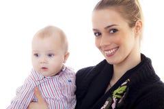 Madre con el bebé Imagenes de archivo