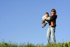 Madre con el hijo fotografía de archivo