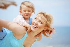 Madre con el niño Foto de archivo