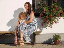 Madre con el niño Fotografía de archivo