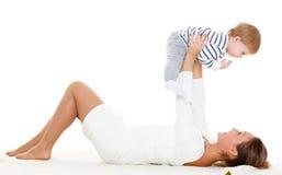 Madre con el pequeño bebé Fotografía de archivo libre de regalías