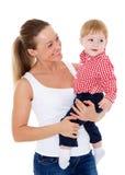 Madre con el pequeño bebé Fotografía de archivo