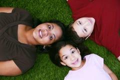 Madre con i bambini Fotografie Stock