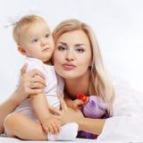 Madre con il bambino Fotografia Stock