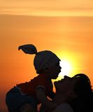 Madre con il bambino Immagini Stock Libere da Diritti