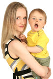 Madre con il neonato Fotografie Stock