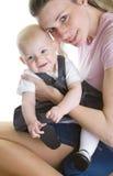 Madre con il suo bambino Fotografia Stock Libera da Diritti