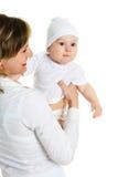 Madre con il suo bambino Fotografia Stock