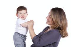 Madre con il suo figlio del bambino Fotografia Stock