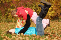 Madre con la hija Fotografía de archivo