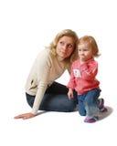 Madre con la hija Imagenes de archivo