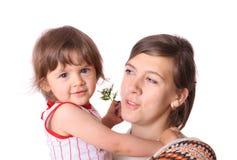 Madre con la hija Fotografía de archivo libre de regalías