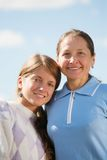 Madre con la hija del adolescente Foto de archivo