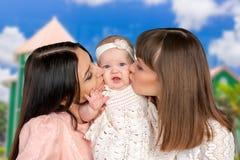 Madre con la hija y la tía Fotografía de archivo