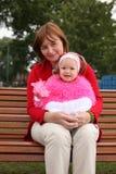 Madre con la pequeña hija Imagen de archivo