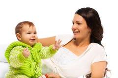 Madre con la ragazza del bambino Fotografia Stock