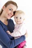Madre con la sua neonata Fotografie Stock