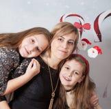 Madre con las hijas Imagen de archivo libre de regalías