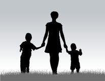 Madre con los niños   ilustración del vector