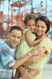 Madre con los niños Imagen de archivo