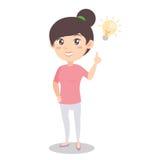 Madre con stile del carattere di idea illustrazione di stock