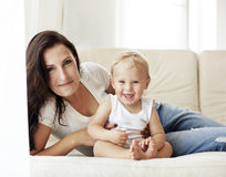 Madre con su bebé Imagen de archivo