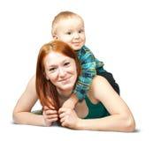 Madre con su hijo imagen de archivo