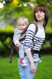 Madre con su niño del niño Imagen de archivo