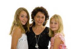 Madre con sus dos hijas Foto de archivo