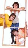 Madre con sus dos hijos adultos Imagen de archivo libre de regalías