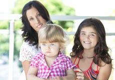 Madre con sus hijas hermosas Fotografía de archivo libre de regalías