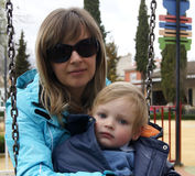 Madre con un bambino Immagine Stock