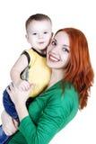 Madre con un piccolo figlio Immagini Stock Libere da Diritti
