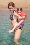 Madre con una hija fotos de archivo
