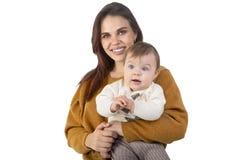 Madre de amor y su beb? foto de archivo