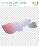Madre de Dios Island polygonal map, mosaic style. Madre de Dios Island polygonal map, mosaic style island. Classy low poly style, modern design. Madre de Dios Royalty Free Stock Photography