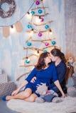 Madre del padre del Año Nuevo del embarazo Imagenes de archivo