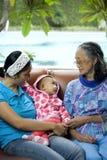 madre della nonna del bambino Fotografie Stock Libere da Diritti