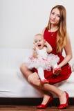 Madre di bellezza con il bambino Fotografie Stock