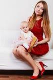 Madre di bellezza con il bambino Immagine Stock Libera da Diritti