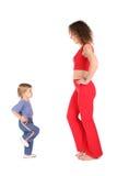 Madre di sport con il bambino Immagini Stock Libere da Diritti