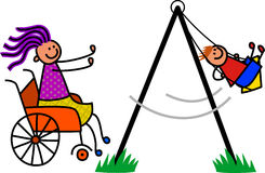 Madre discapacitada libre illustration