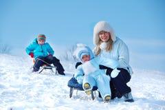 Madre e bambini Fotografia Stock